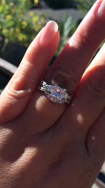 1.42tcw Princess Cut Diamond Wedding Set