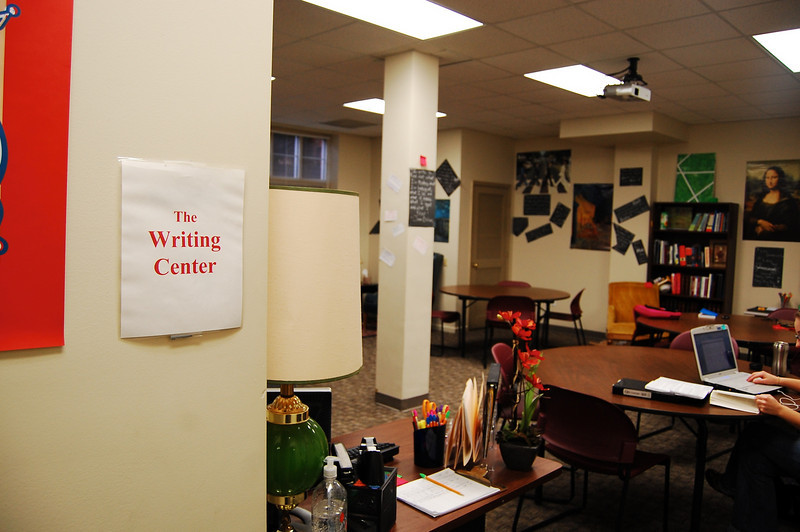 The Writing Center can be found in the basement of Craig and has a nice, relaxed feel.