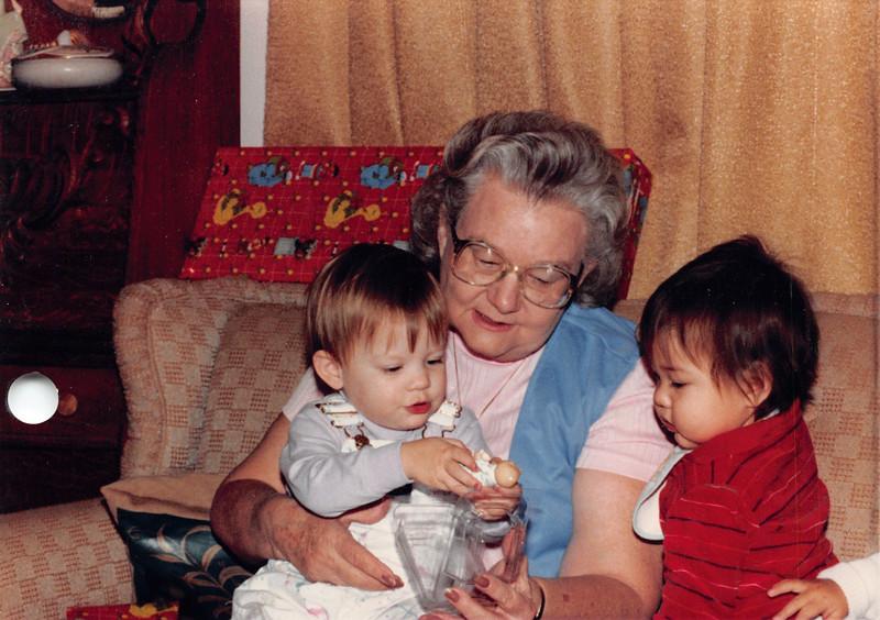Frankie and grandkids