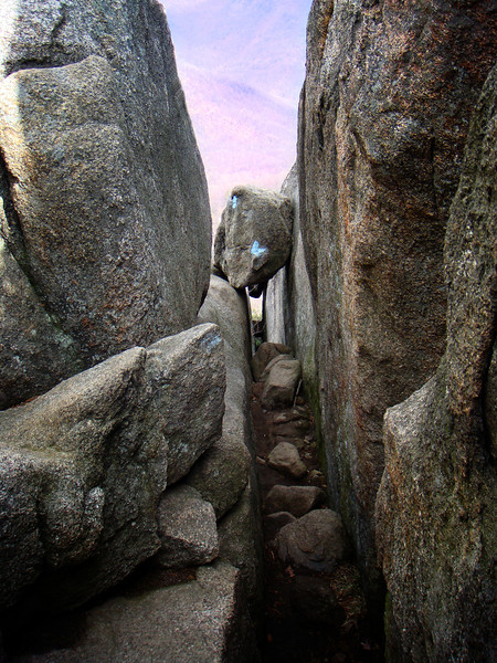 Rocky passage.  Old Rag, Virginia