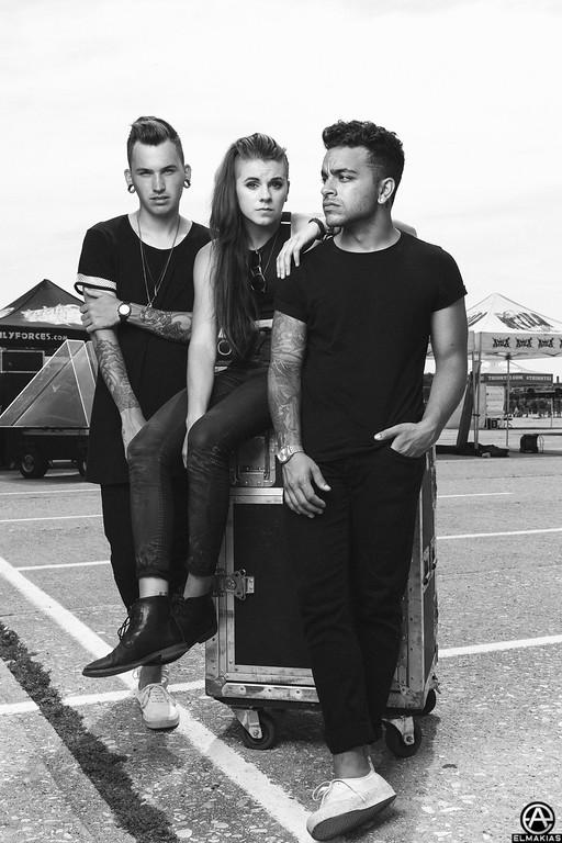 Shot PVRIS for Rocksound Magazine at Vans Warped Tour 2015 by Adam Elmakias