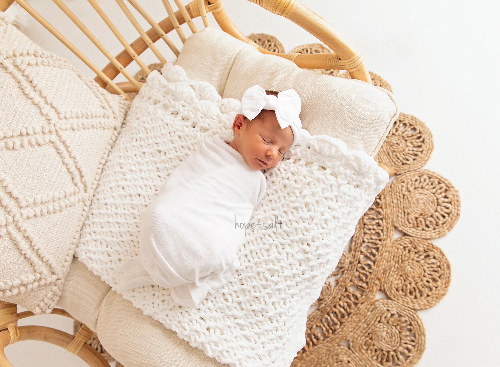 stoney creek ontario studio newborn session for baby girl T 2021 in bright airy and boho style hamilton baby photographer hope and salt