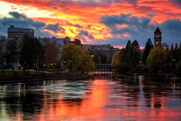 Spokane River Sunset