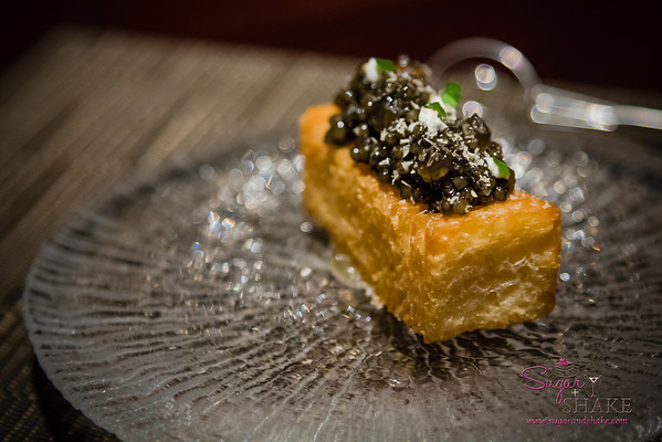 Another VC favorite, not on the menu for the evening. Twenty more, please! Caviar on brioche. © 2013 Sugar + Shake