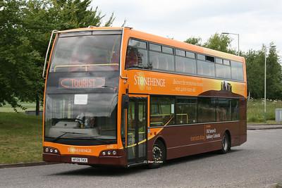 8101, HF08TKX, Go-South Coast, Beehive Park & Ride Roundabout, A345.