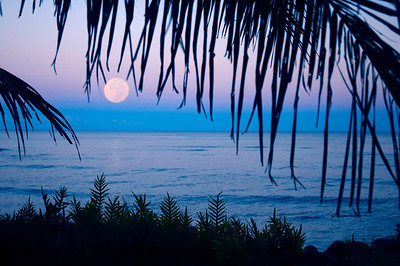Hawaii, Moonscapes, Moonrise, Moonset