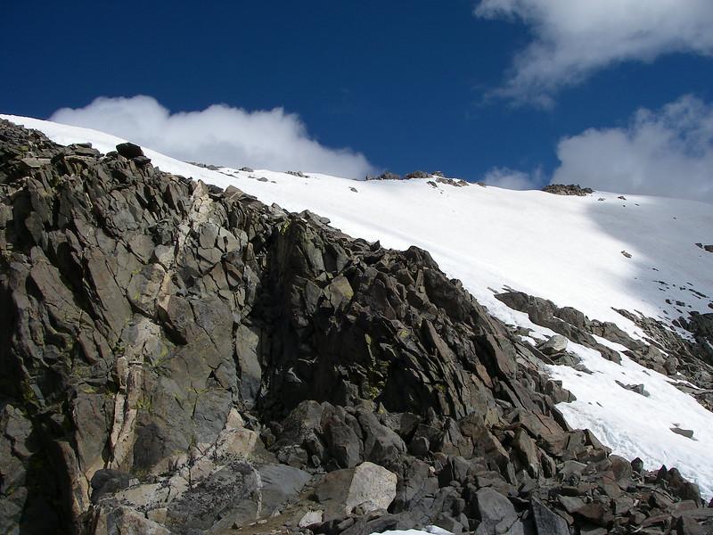 ... and our goal Gannett Peak is closer.