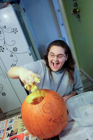 Tiffany Pumpkin Carving
