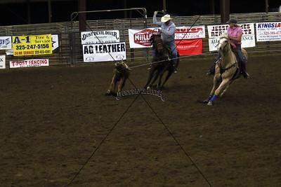Llano County Team Roping Third Go
