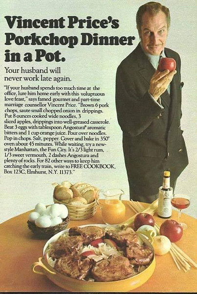 Vincent Price's Porkchop Dinner