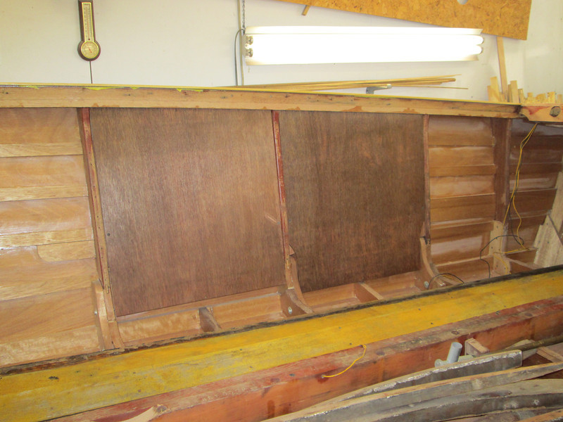 Starboard ventilation bulkheads installed.