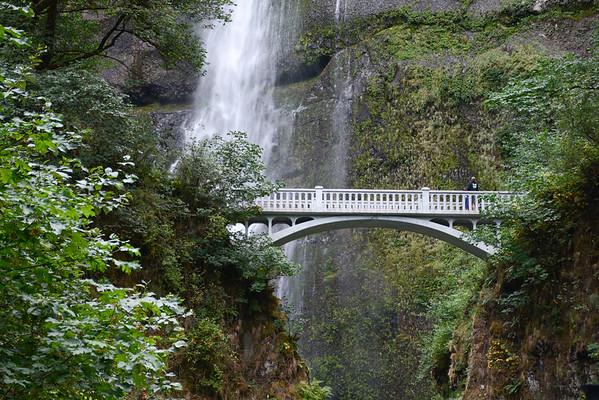 Multnomah Falls and Portland