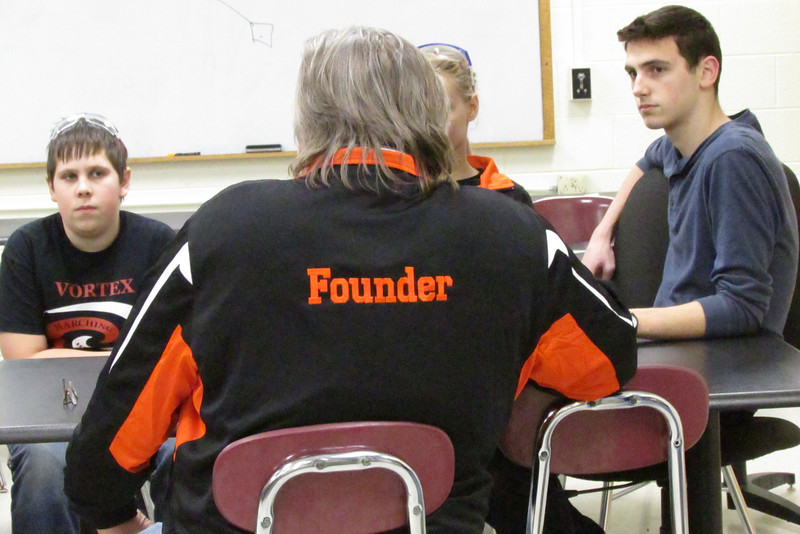 The back of the new jacket for our founder, Mr. Skurulsky