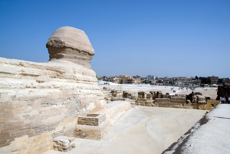 The View of the complex from the Sphinx - Giza, Egypt