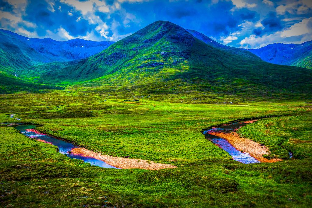 苏格兰美景,大地线条