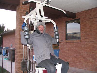 Grandpa Getting a Workout