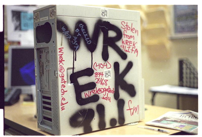 WREK's computer
