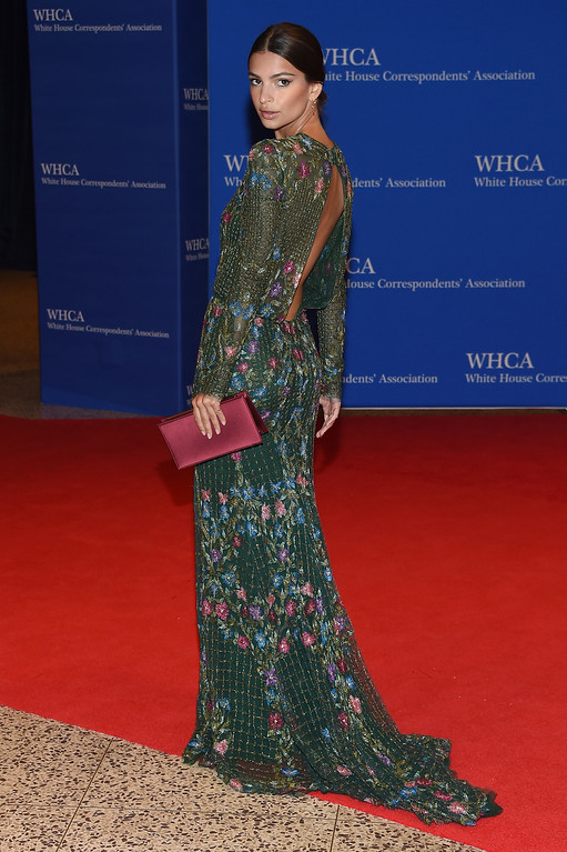 . Actress Emily Ratajkowski attends the 102nd White House Correspondents\' Association Dinner  on April 30, 2016 in Washington, DC.  (Photo by Larry Busacca/Getty Images)