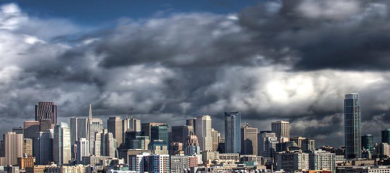 Stormy San Francisco Skyline