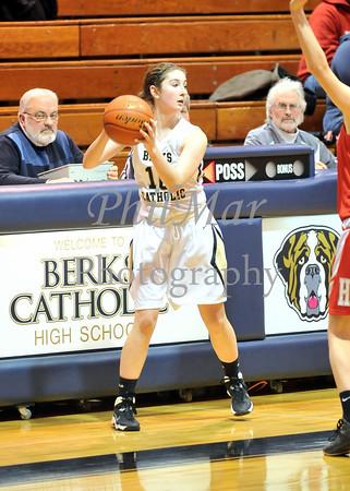 Berks Catholic VS Hamburg Girls High School Basketball 2013 - 2014