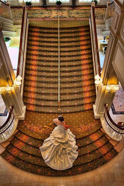 Bride on the stairway. (A very expensive wedding).jpg