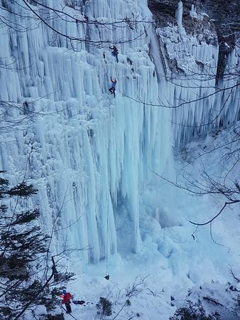 01 27 Ice climbing Pericnik waterfall