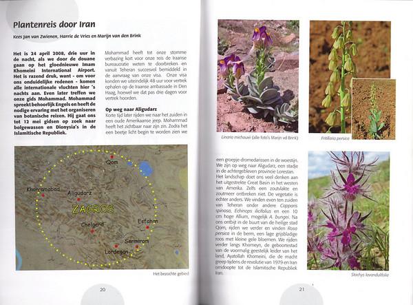 Plantenreis door Iran, Folium Alpinum 95, May 2009, Kees Jan van Zwienen, Harrie de Vries and Marijn van den Brink