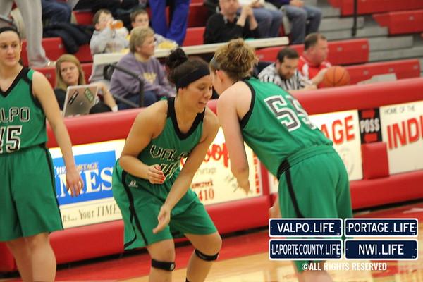 VHS Girls Varsity Basketball Sectional vs Hobart 2-6-13