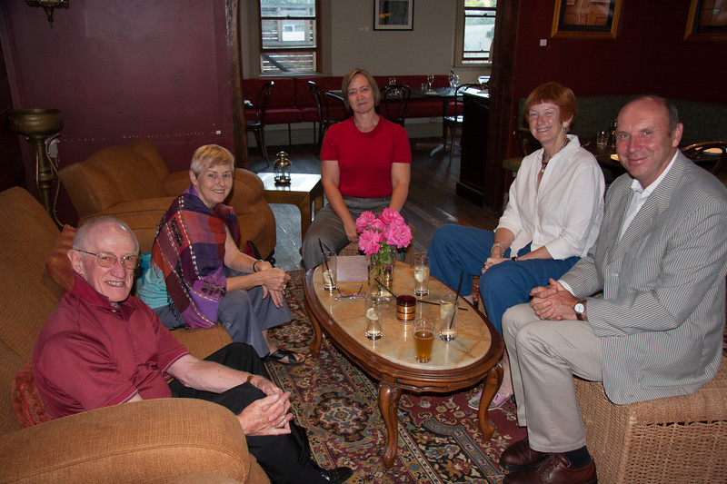 Colin Holmes, Enid Holmes, Allison Peacock (Holmes), Sue Lyons, Keith Lyons. 2008.