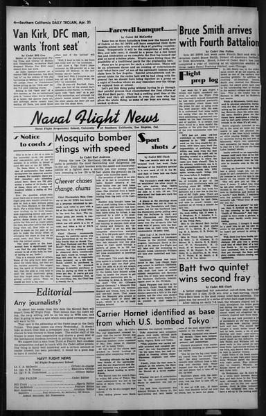 Daily Trojan, Vol. 34, No. 131, April 21, 1943