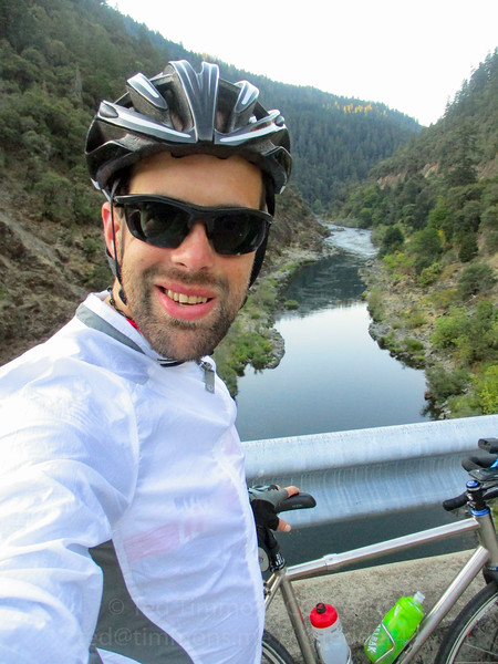 Selfie at the Grave Creek/Rogue River bridge.