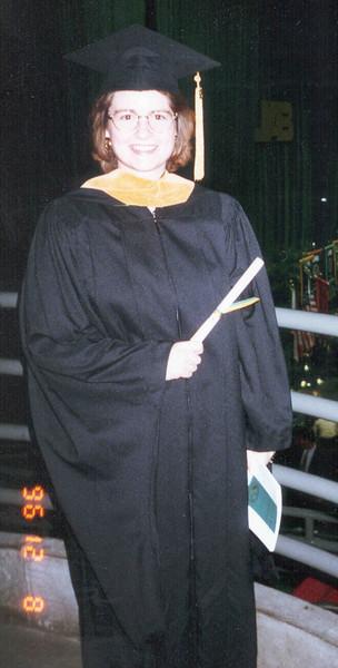 Sharon getting master degree.jpg