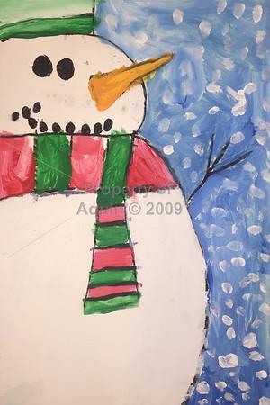 1st-4th grade christmas paintings . december 2016