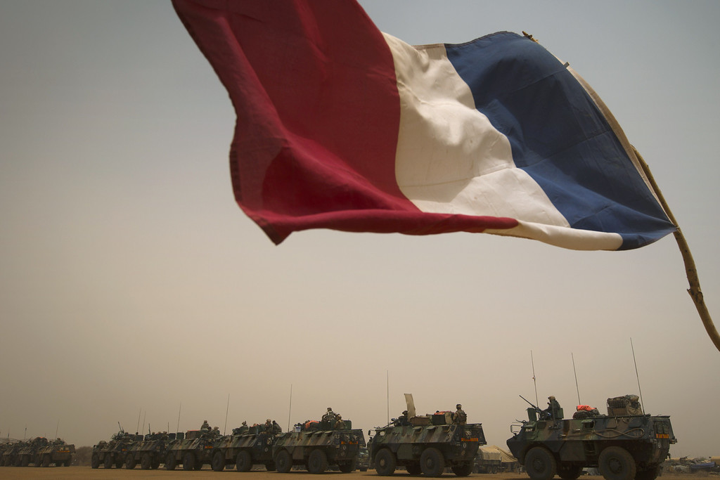 ". French armoured personnel carriers (VAB) leave the city of Gao during the ""Gustav operation\"" on April 6, 2013. A French force of 1,000 soldiers has begun on a sweep of a river valley thought to be a logistics base for armed Islamists near the Malian city of Gao, an AFP journalist accompanying the mission said. Operation Gustav, one of France\'s largest actions since its intervention against insurgents in January, will involve dozens of tanks, helicopters, drones and airplanes, said General Bernard Barrera, commander of the French land forces in Mali.      JOEL SAGET/AFP/Getty Images"