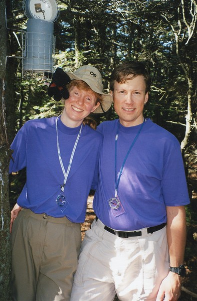 Suzanne and Mark after becoming a Catskill 35er.  Sure wish I included this picture but didn't include it on the map.  Thanks Suzanne.