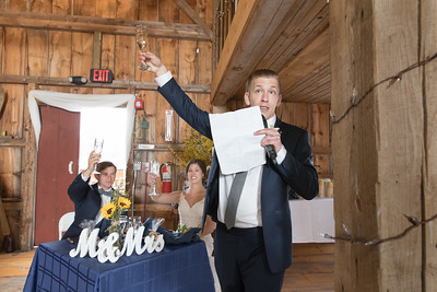 Speeches Reception- Jessica & Nick Roy Wedding- Bliss Farm Barn Wedding Photos Granville, MA- Western Mass Studio Wedding Photographer