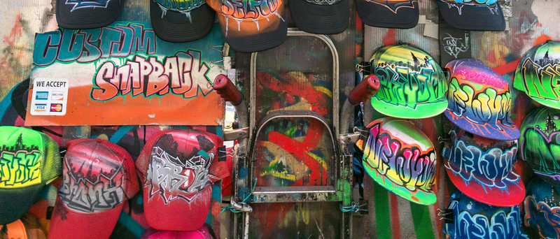 Baseball Caps - Times Square, New York, NY, USA - August 17, 2015