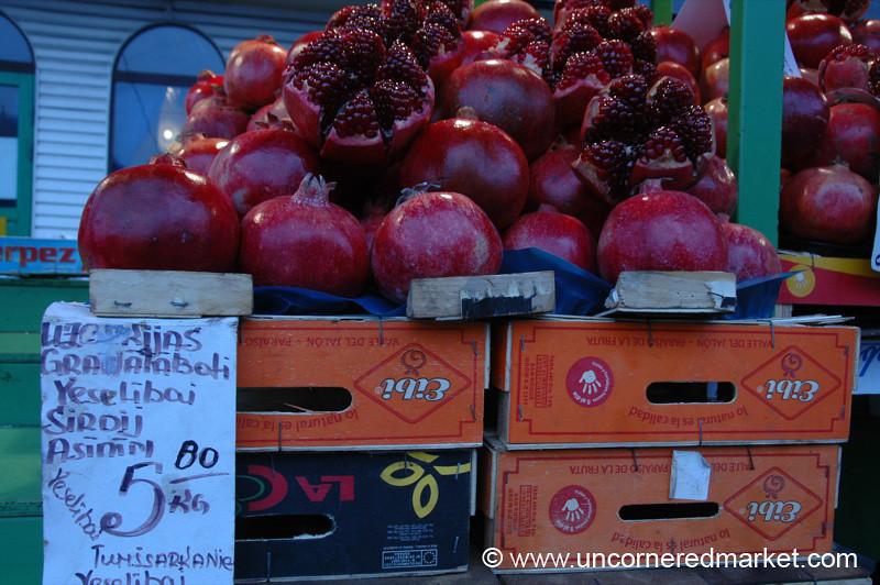 Pomegranates, Central Market - Riga, Latvia