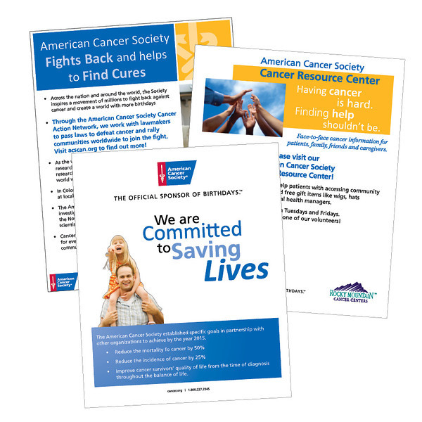 American Cancer Society Posters and foam core boards for ACS/CRC events