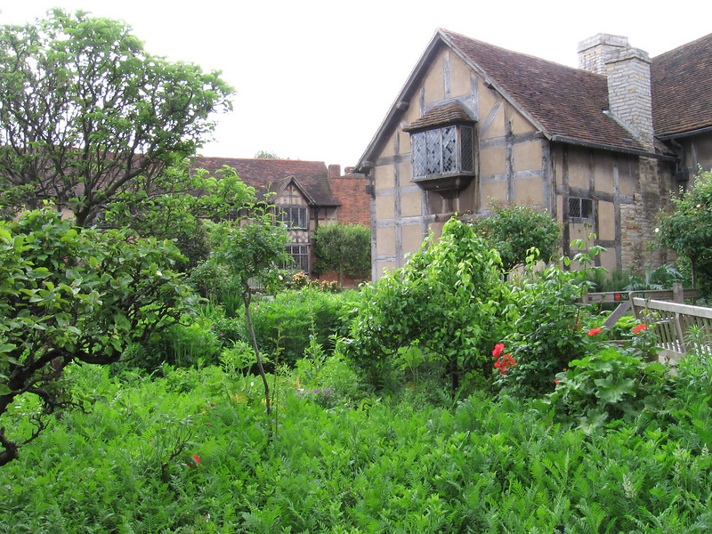 The back garden at Shakespeare's Birthplace.