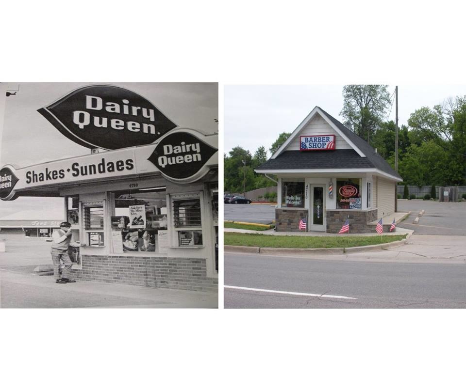 . A Dairy Queen which became a barber shop.