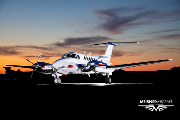 King Air B200 N184TX (High Res w/Logo)