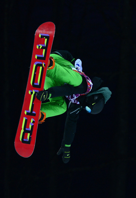 . Ireland\'s Seamus O\'Connor competes in the Men\'s Snowboard Halfpipe Semifinals at the Rosa Khutor Extreme Park during the Sochi Winter Olympics on February 11, 2014.       AFP PHOTO / JAVIER SORIANO/AFP/Getty Images