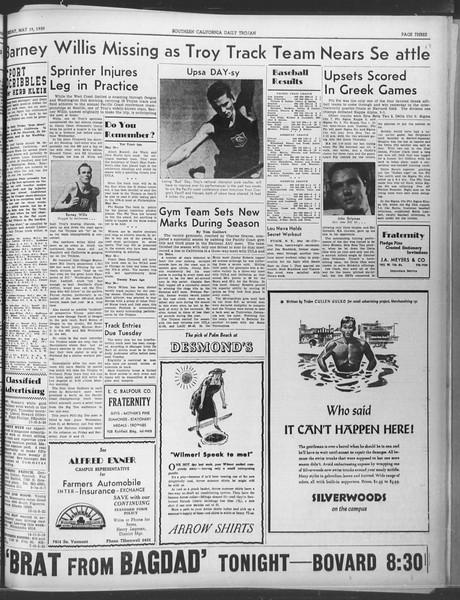 Daily Trojan, Vol. 30, No. 140, May 19, 1939