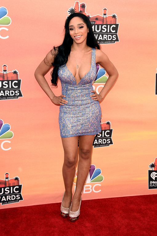 . LOS ANGELES, CA - MAY 01:  Singer Darnaa attends the 2014 iHeartRadio Music Awards held at The Shrine Auditorium on May 1, 2014 in Los Angeles, California. iHeartRadio Music Awards are being broadcast live on NBC.  (Photo by Jason Merritt/Getty Images for Clear Channel)