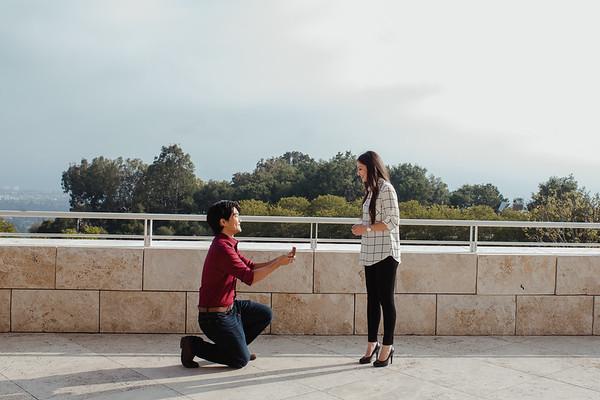 Nhan & Julia Proposal / The Ghetty Villa / Los Angeles CA