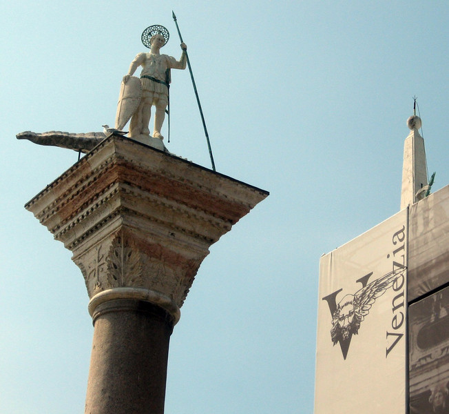 The Column of San Marco (at the main entrance to Venice from the sea).