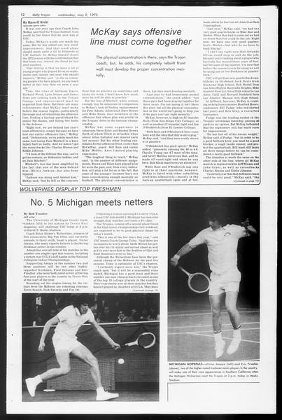 Daily Trojan, Vol. 65, No. 118, May 02, 1973