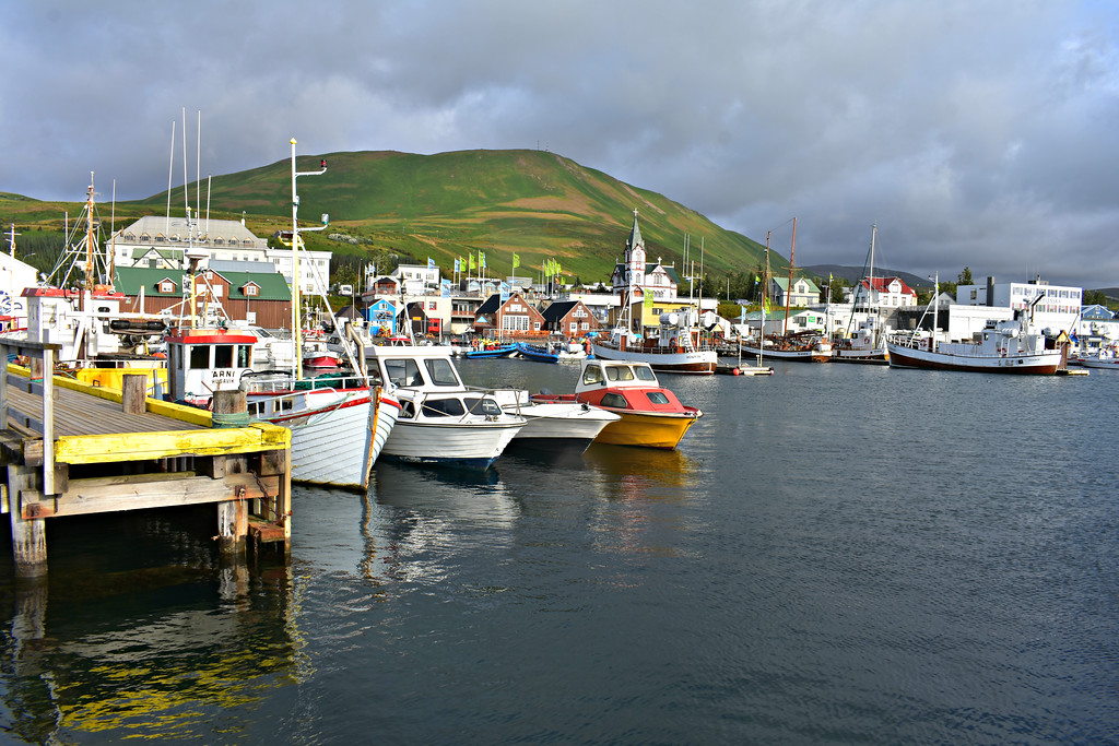 Húsavík  Harbour in  North Iceland