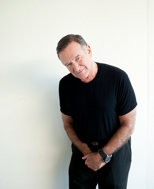 . Actor Robin Williams poses for a portrait during the Happy Feet Press Junket in Beverly Hills, Calif. on Saturday, Nov. 5, 2011. (AP Photo/Dan Steinberg)